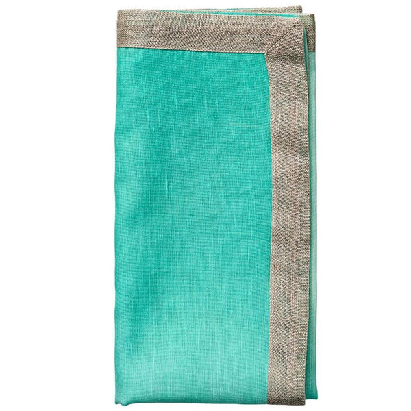 Dip Dye Napkin in Mint & Silver - Set of 4 by Kim Seybert | Alchemy Fine Home