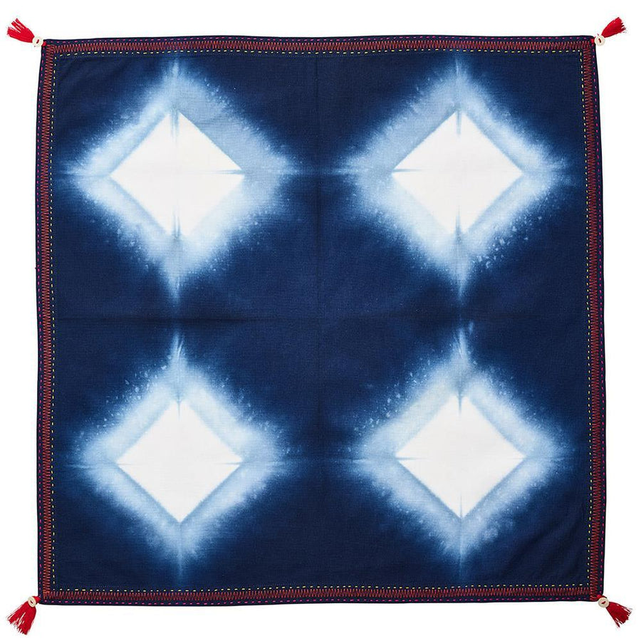 Diamond Ray Napkin in Blue - Set of 4 by Kim Seybert | Alchemy Fine Home