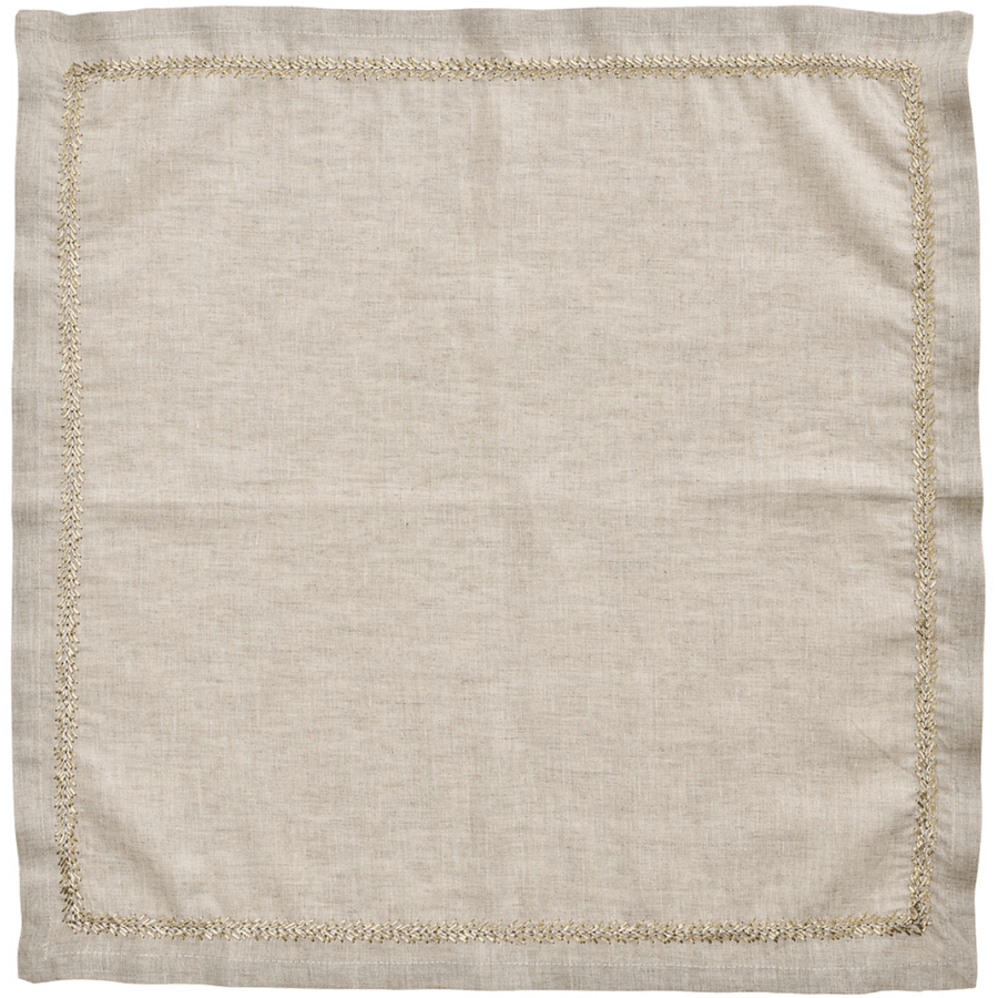 Kim Seybert Jardin Napkins in Natural, Gold & Silver | Alchemy Fine Home