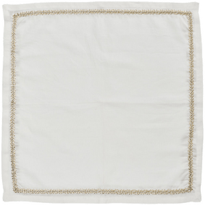 Kim Seybert Kim Seybert Jardin Napkins in Natural, Gold & Silver – Set of 4 NA1201035NGDSL