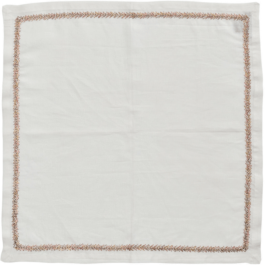 Kim Seybert Jardin Napkins in White | Alchemy Fine Home