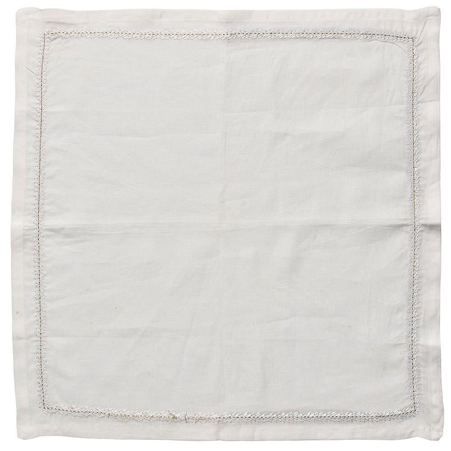 Jardin Napkin in White - Set of 4 by Kim Seybert | Alchemy Fine Home