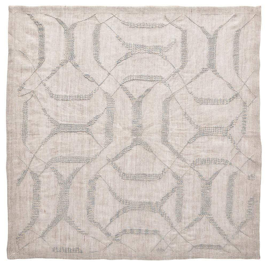 Kim Seybert Variegated Napkin in Natural and Grey - Set of 4