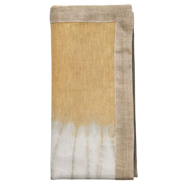 Kim Seybert Solstice Napkin in Grey and Beige - Set of 4