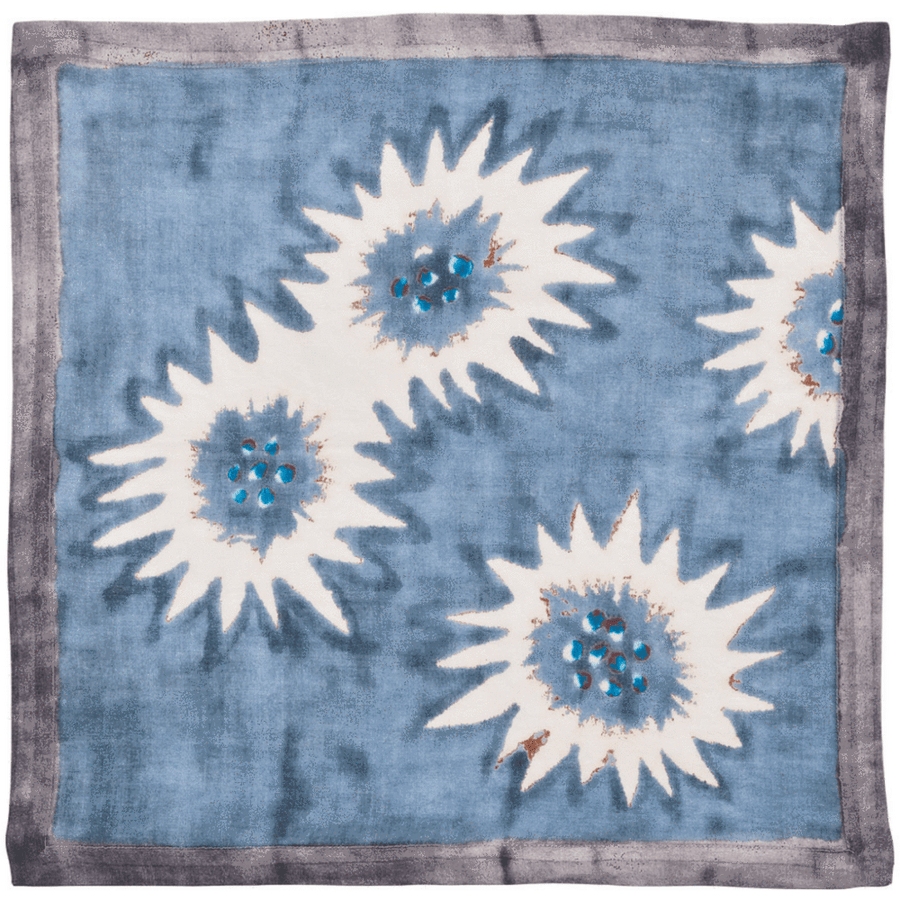 Kim Seybert Foliage Napkins in Blue & Grey | Alchemy Fine Home