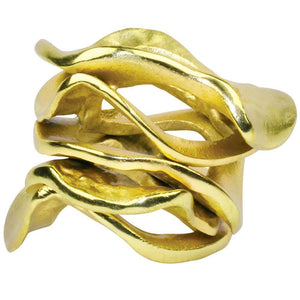 Kim Seybert Kim Seybert Flux Napkin Ring in Gold - Set of 4 NR1160169GD