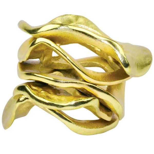 Kim Seybert Flux Napkin Ring in Gold - Set of 4