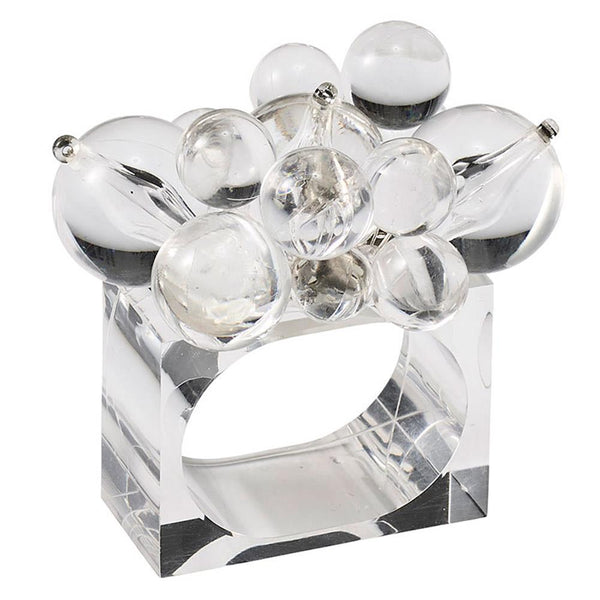 Cloud Napkin Ring in Clear - Set of 4 by Kim Seybert | Alchemy Fine Home