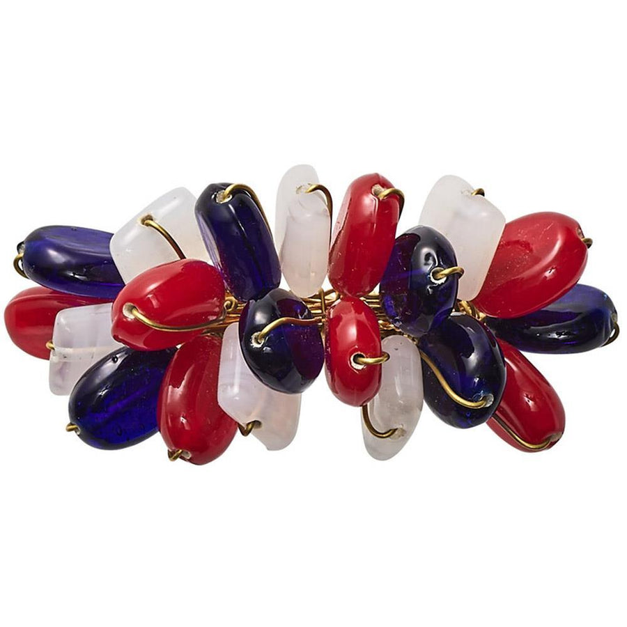 Poppy Napkin Ring in Red & White & Blue - Set of 4 by Kim Seybert | Alchemy Fine Home