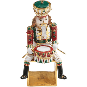 Kim Seybert Kim Seybert Christmas Drummer Set Of 4 Napkin Ring in Red, Green & Gold NR2201129RGNGD