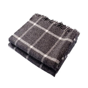 Harlow Henry Windowpane Gray Throw