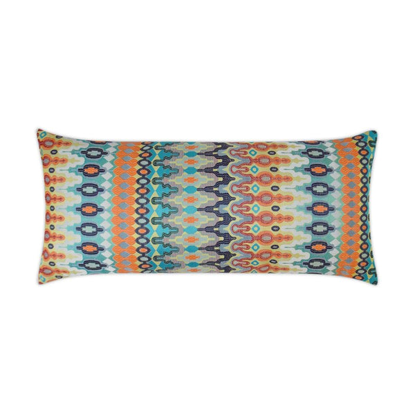 D.V. Kap Kantha Lumbar Outdoor Pillow - Available in 2 Colors | Alchemy Fine Home