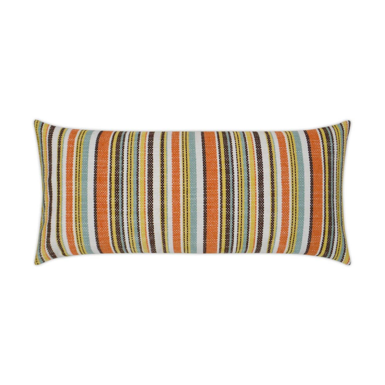 D.V. Kap D.V. Kap Fancy Stripe Lumbar Outdoor Pillow - Available in 2 Colors Navy OD-304-N