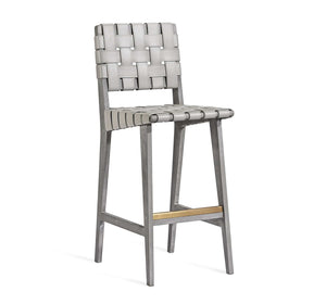 Interlude Home Interlude Home Louis Bar Stool - Grey & Antique Brass 149903