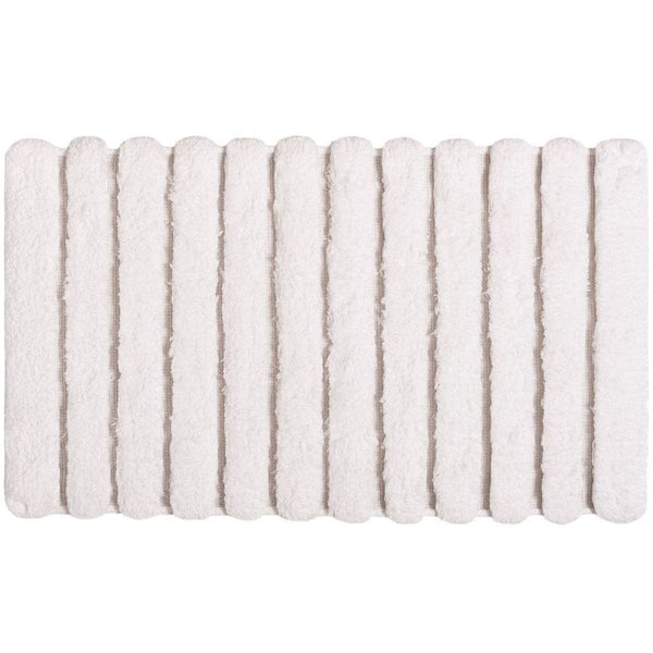 Graccioza Petra Bath Rug - White | Alchemy Fine Home