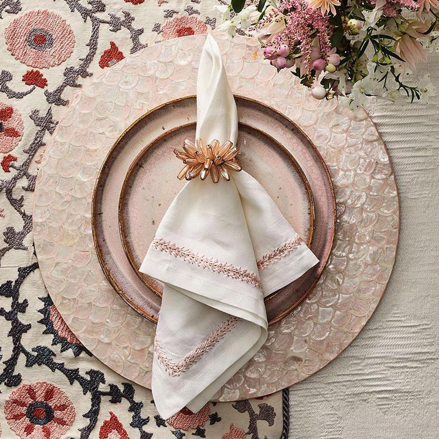 Camellia Placemat in Blush - Set of 4 by Kim Seybert | Alchemy Fine Home