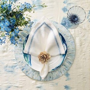 Kim Seybert Kim Seybert Tahiti Placemat in Periwinkle - Set of 4 PM1201006PW