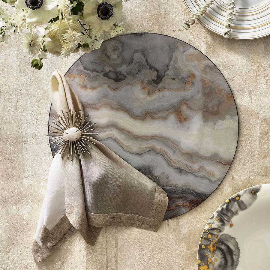 Kim Seybert Kim Seybert Agate Placemat in Multi - Set of 4 PM1201018MT
