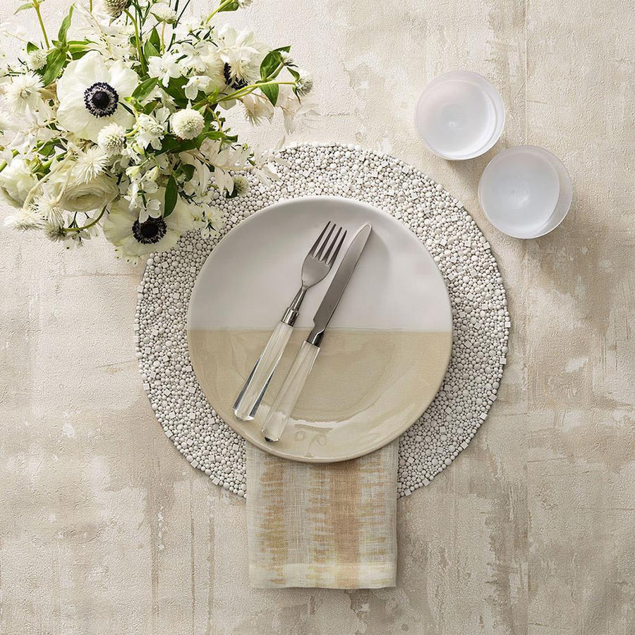 Bianco Placemat in White - Set of 4 by Kim Seybert | Alchemy Fine Home