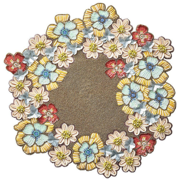 Kim Seybert Kim Seybert Bouquet Placemat in Multi - Set of 2 PM1201064MT