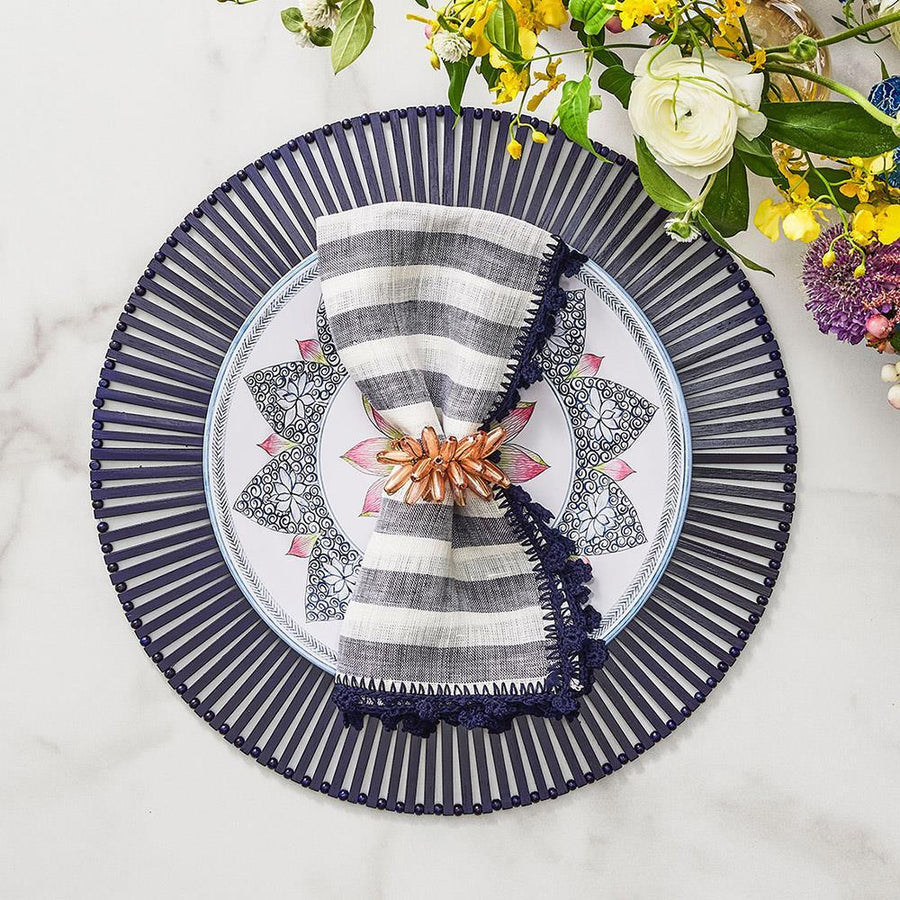 Spoke Placemat in Navy - Set of 4 by Kim Seybert | Alchemy Fine Home