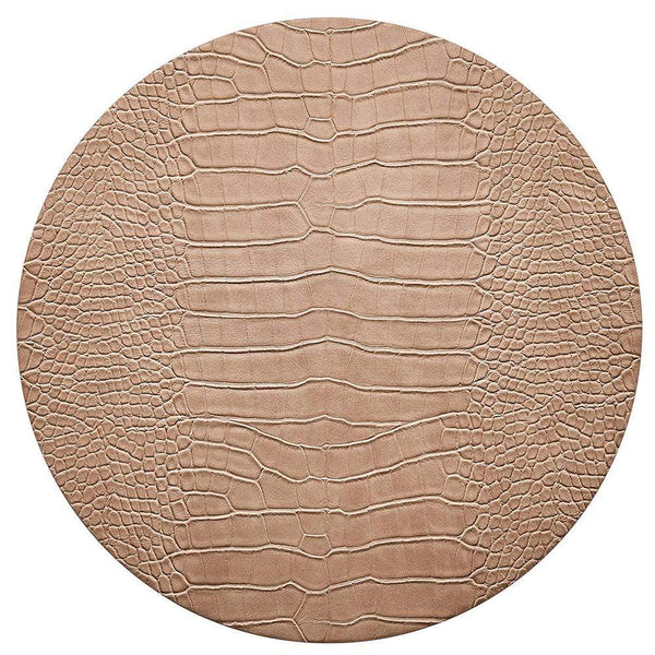 Kim Seybert Kim Seybert Croco Placemats in Beige - Set of 4 PM2192041BG