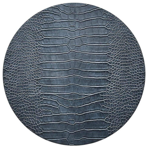 Kim Seybert Croco Placemats in Cadet - Set of 4
