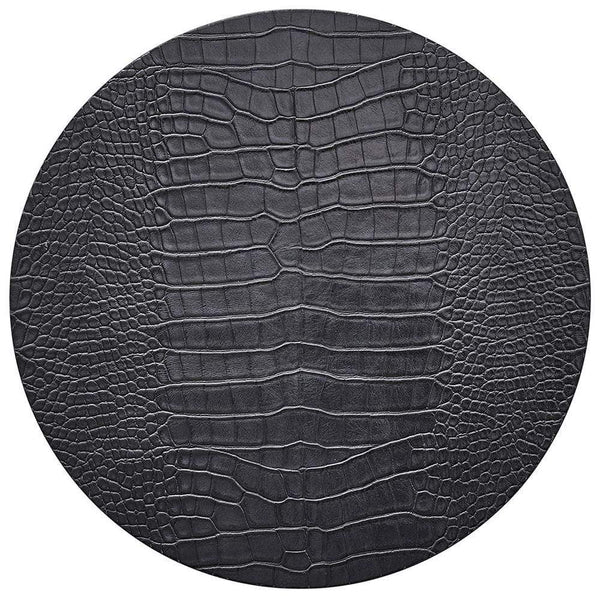 Kim Seybert Kim Seybert Croco Placemat in Charcoal - Set of 4 PM2192041CHAR