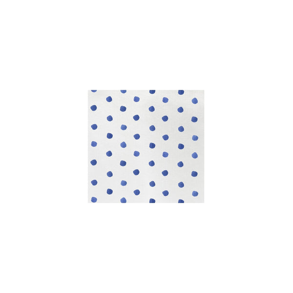 Vietri Vietri Papersoft Dot Cocktail Napkins - Available in 8 colors Blue / Pack of 20 PPS-6051B