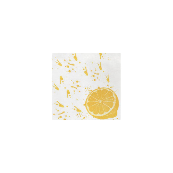 Vietri Papersoft  Cocktail Napkins - Lemon | Alchemy Fine Home