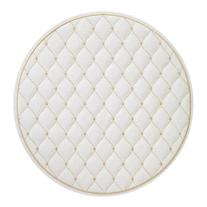 Bodrum Bodrum Quilted Diamond Placemat - Antique White & Gold - Set of 4 QUD8010P