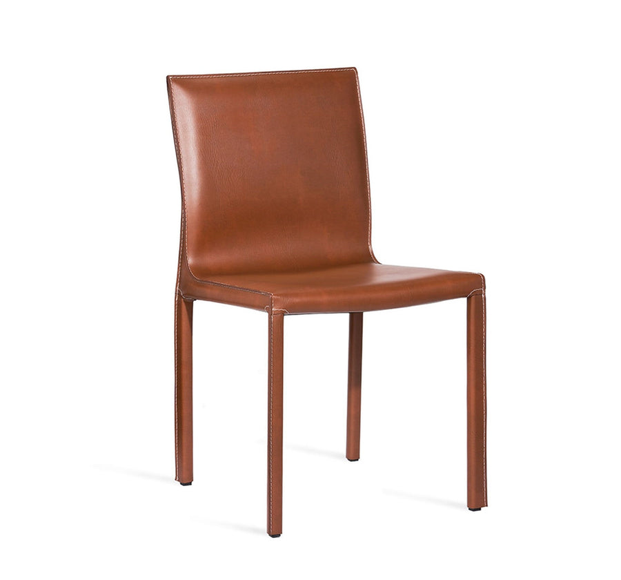 Interlude Home Bianca Dining Chair Cognac Finish and Upholstery - Set of 2