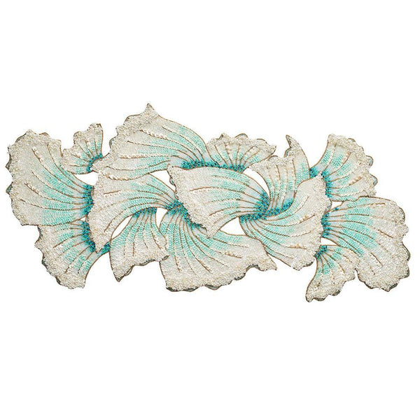 Isla Table Runner in Ivory & Seafoam by Kim Seybert | Alchemy Fine Home
