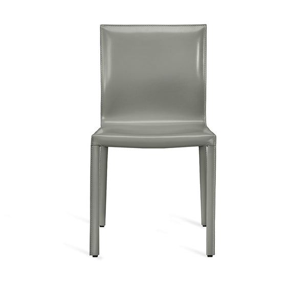 Interlude Home Bianca Dining Chair Horizon Grey Finish and Upholstery - Set of 2