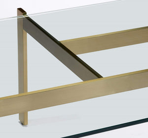 Interlude Home Interlude Home Luc Cocktail Table in Brushed Brass 118143