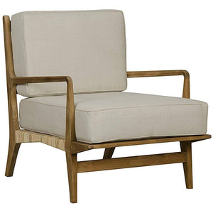 Noir Allister Teak Chair with Rattan