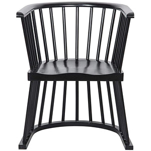 Noir Bolah Hand Rubbed Black Chair