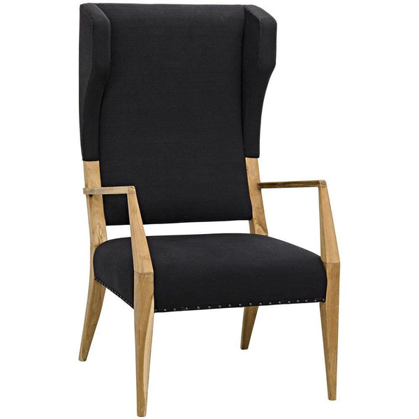 Noir Narciso Teak Woven Fabric Chair