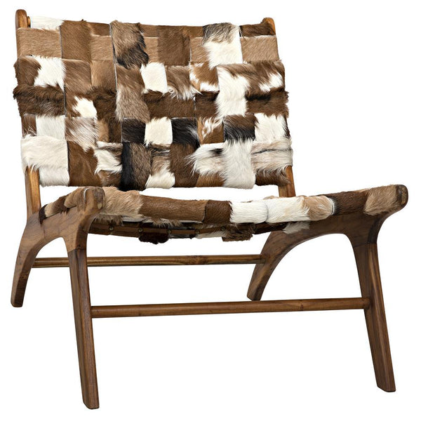 Noir Kamara Cow Hide Chair