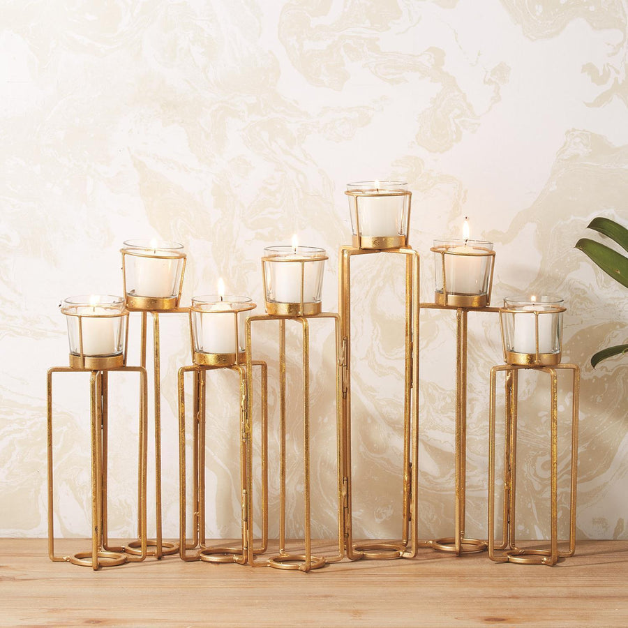 Tozai Home Serpentine Set of 7 Candleholders | Alchemy Fine Home