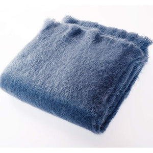 Harlow Henry Harlow Henry Luxe Mohair Throw - 6 Available Colors Denim HHVCT03