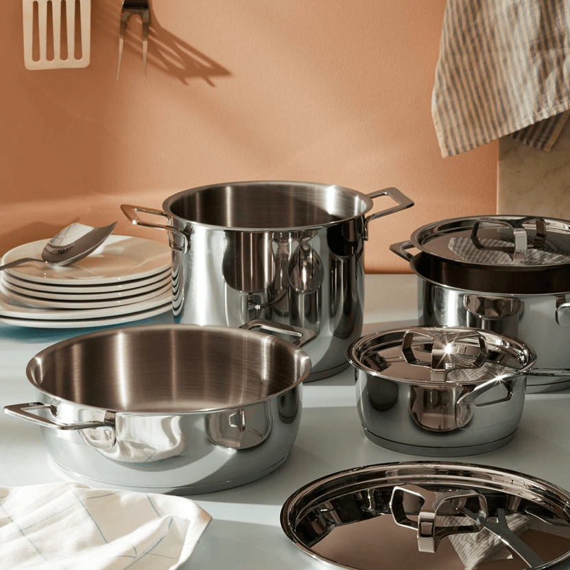 Alessi Alessi Pots and Pans 7 Piece Set - Silver AJM100S7