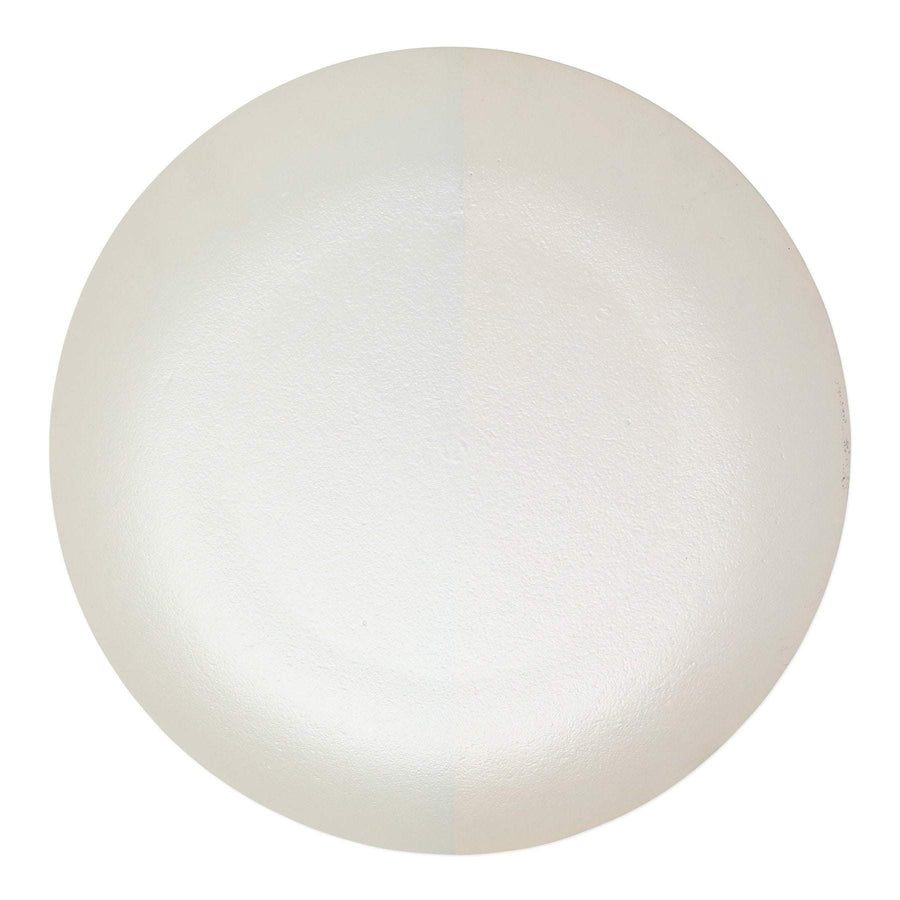 Two-Tone Glass White & Gold Platter