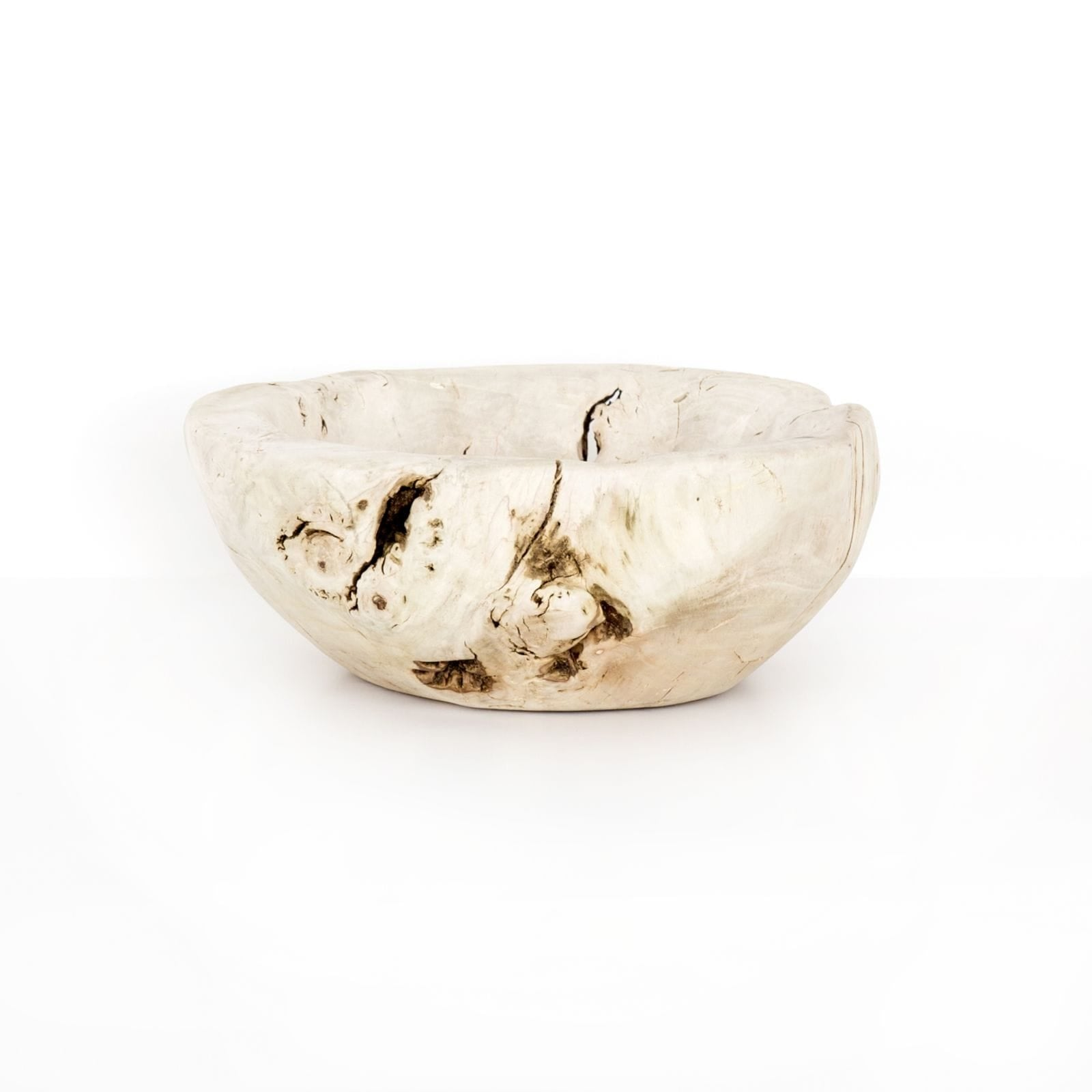Four Hands Four Hands Reclaimed Wood Bowl - Ivory UWES-189