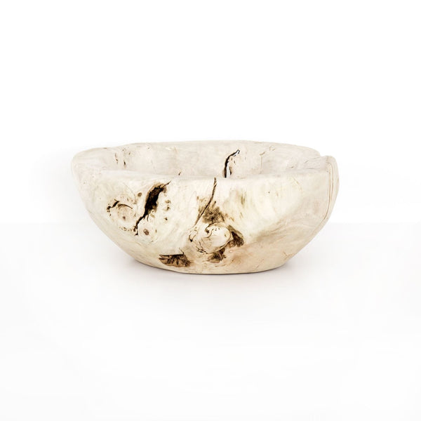 Four Hands Reclaimed Wood Bowl - Ivory | Alchemy Fine Home