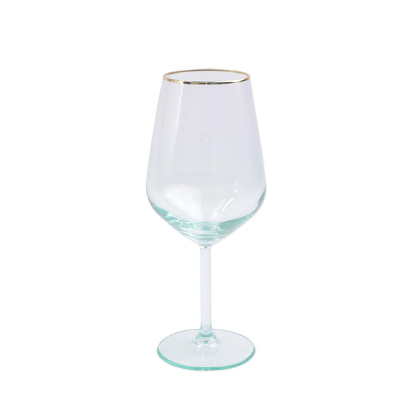 Vietri Rainbow Green Wine Glass