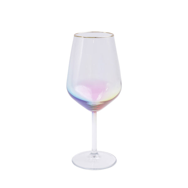 Vietri Rainbow Wine Glass