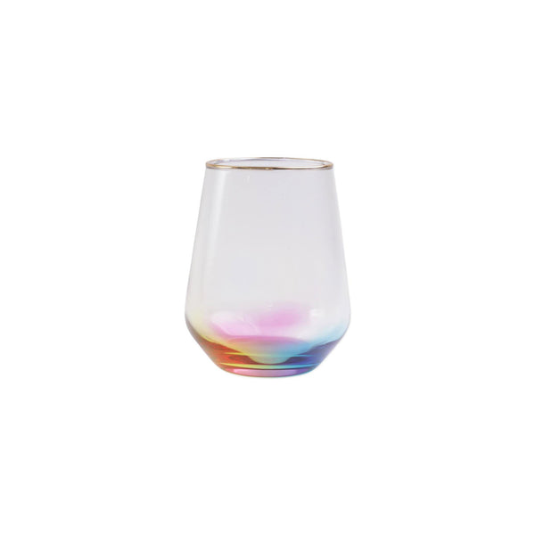 Vietri Rainbow Stemless Wine Glass