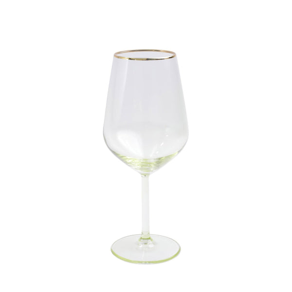 Vietri Rainbow Yellow Wine Glass