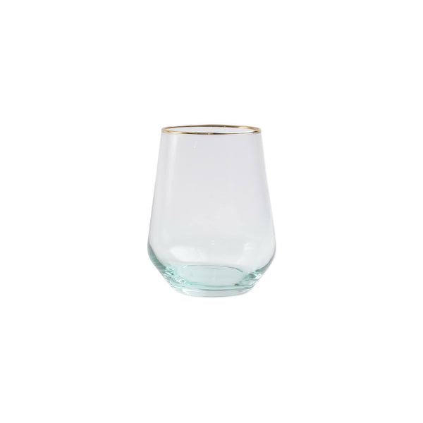 Vietri Rainbow Yellow Stemless Wine Glass